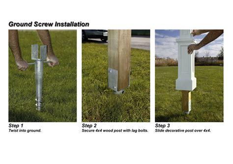 mayne 4x4 ground for mailbox posts
