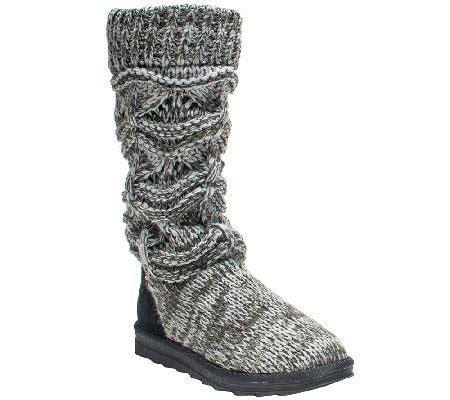 Muk Luks Knit Boots Qvc