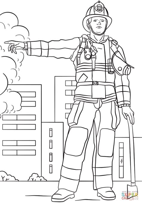 coloring pages firefighter snap cara org
