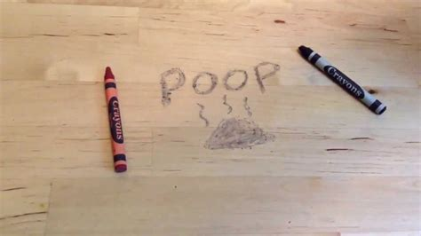 how to remove crayon marks from wood youtube