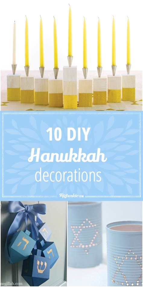 10 diy hanukkah decorations tip junkie