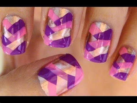nail art tutorial wikihow how to fish tail braid manicure youtube