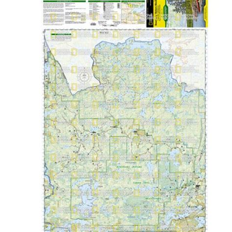 boundary waters canoe area wilderness east and west 2 map