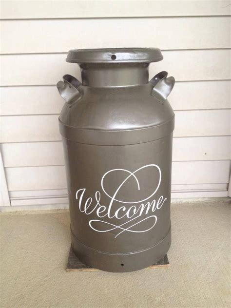 Decorating Ideas Milk Cans Milk Can Makeover I Should Do This With Mine In