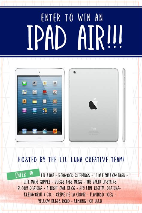 Ipad Air Sweepstakes - ipad air giveaway key lime digital designs