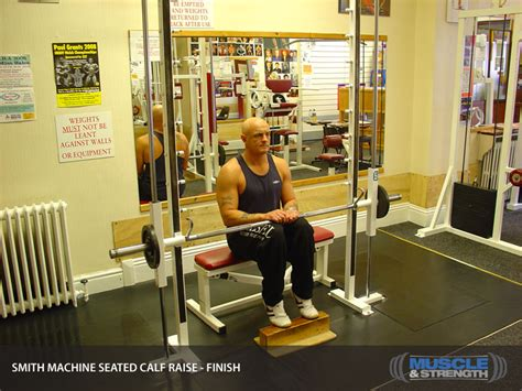 smith machine seated calf raise smith machine seated calf raise exercise guide tips