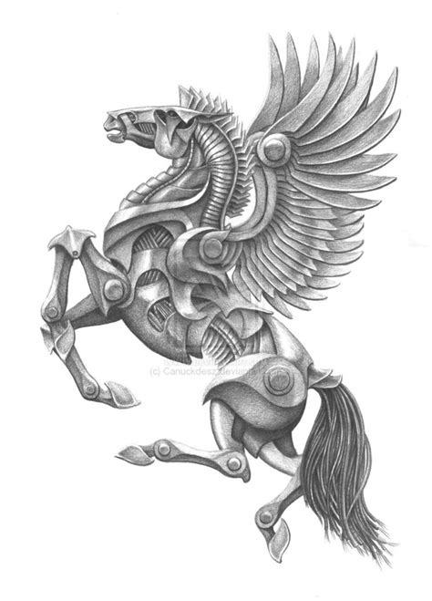 mecha pegasus by canuckdesz on deviantart