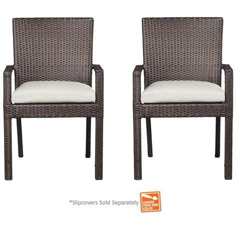 Patio Chairs Sold Separately Hton Bay Beverly Patio Dining Arm Chairs With Cushion