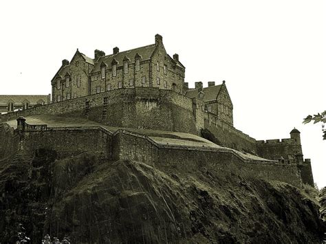 edinburgh castle black  white flickr photo sharing