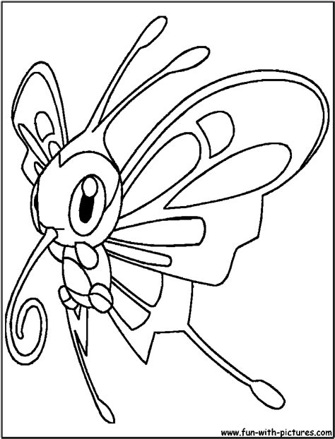 pokemon coloring pages beautifly how to draw pokemon beautifly