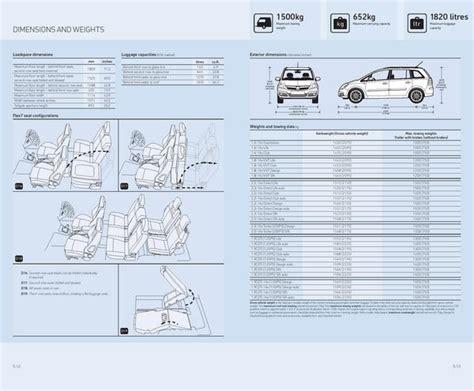 Opel Zafira Interior Dimensions the gallery for gt opel zafira interior dimensions