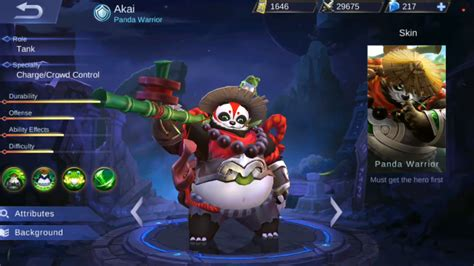 Mobile Legends Akai 2 akai panda warrior skills rework new skin mobile legends