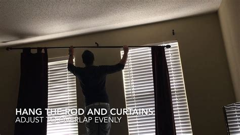 curtains for two windows together how to install curtain rod diy home improvements