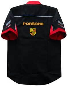 Porsche Apparel Msps7088 B Porsche Team Pit Crew Shirt M Car