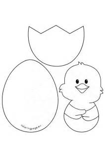 easter craft patterns and egg coloring page