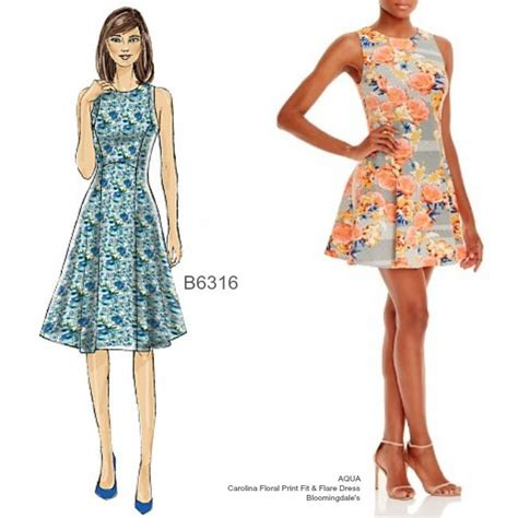dress pattern fit and flare sew the look fit n flare dress in scuba knit try
