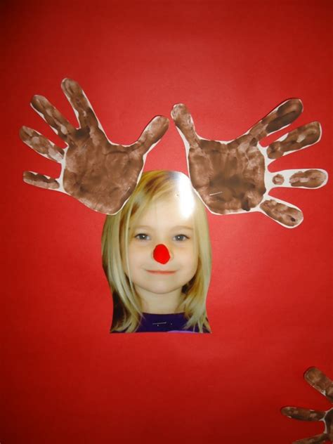 christmas handprint footprint crafts keepsakes red