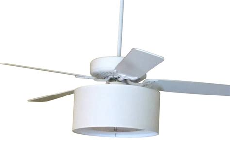 Ceiling Fan With Drum Shade Light Linen Drum Shade Light Kit For Ceiling Fans White 17 Quot X17 Quot X8 Quot Contemporary Ceiling Fans