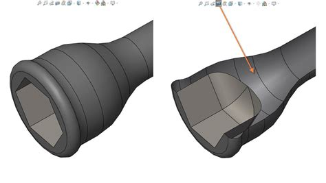applying a solidworks section view makes my model appear