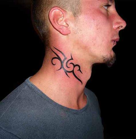 tattoos on the neck for men 10 neck ideas for small tribal neck