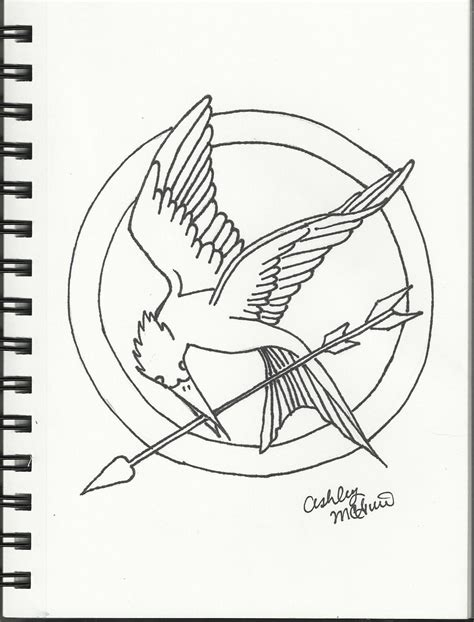 catching fire mockingjay pin coloring page coloring pages