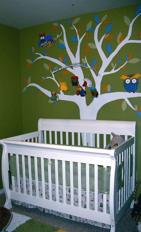 owl themed baby room baby room owl theme the owl tree wall mural in the nature theme nursery i decorated an owl with