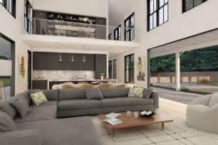 2 Story Open Floor House Plans Decoraci 243 N De Salas Modernas Para Casas Campestres