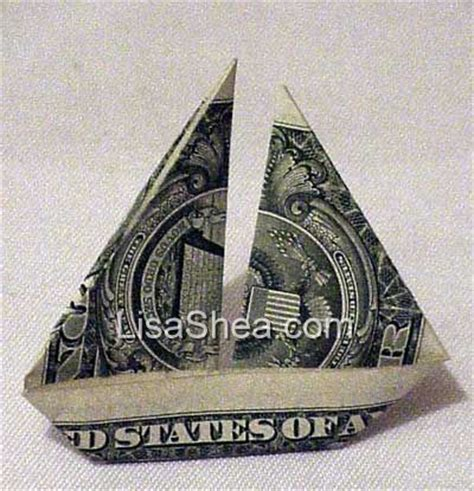 Money Origami Boat - origami sail boat 171 embroidery origami