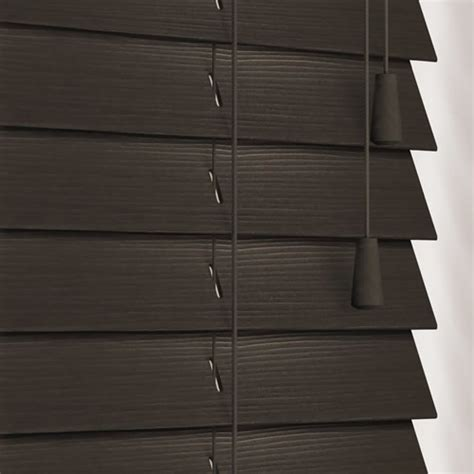 Brown Faux Wood Blinds brown almost black faux wood blinds 50mm made to measure