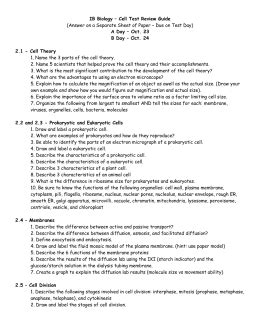 Biology Chapter 7 Study Guide