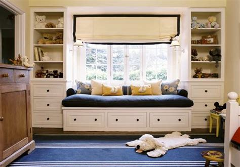 built in bench under window window seat bed cottage boy s room kristen panitch