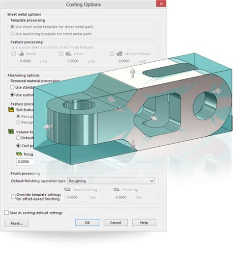 New In Solidworks 2014 Quick Volume Cut Costing Solidworks Costing Template