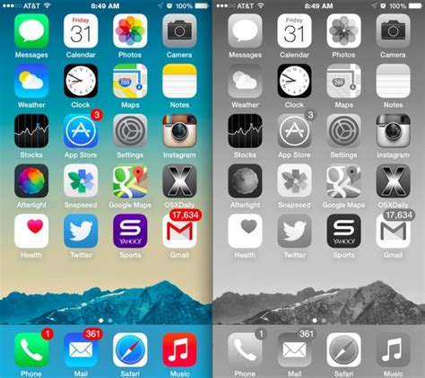 iphone screen changing colors turn iphone or screen into black white with