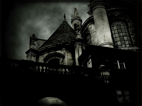 black and white gothic wallpaper dark horror gothic haunted castle buildings wallpaper
