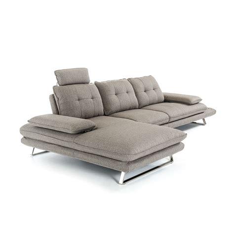 divani casa arden modern black fabric sectional sofa divani casa porter modern grey fabric sectional sofa left
