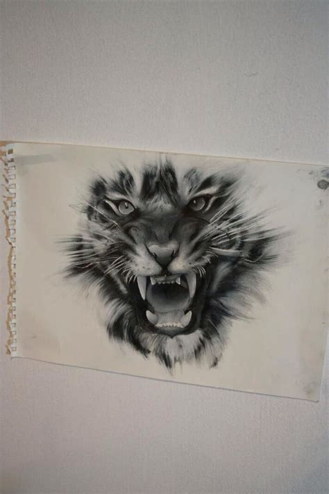 lion tiger tattoo designs kinda want this but torn between this or a tattoos