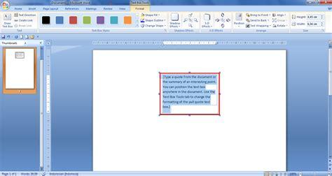 membuat textbox html cara membuat text box pada microsoft word 2007 panduan