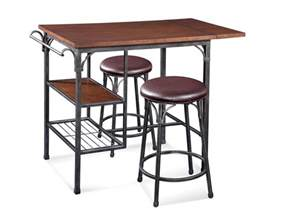 Tall Kitchen Islands High Rise Bistro Table Set Dark Tobacco Amp Pewter Finish
