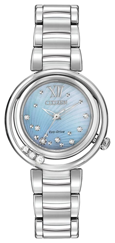 citizen eco drive set stainless