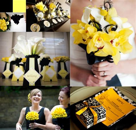 Yellow Black And White Wedding Decorations yellow and black and white damask yellow and black