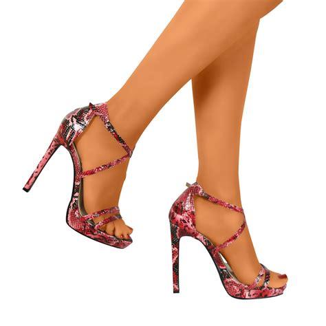 womens high heel womens open toe strappy stiletto high heel