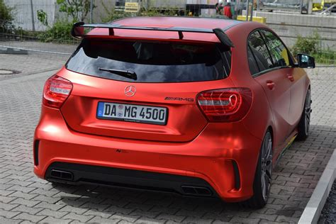 Autofolie Rot Metallic Glänzend by Mercedes Benz A45 Amg Folien Experte Cars Modified