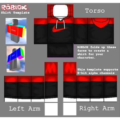 Red Adidas Hoodie Roblox Roblox Shirt Template 2017