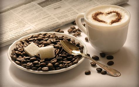 Cappucino Coffee Bean cappuccino and coffee beans wallpaper 45791