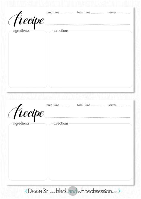 recipe template buscar con google printables pinterest
