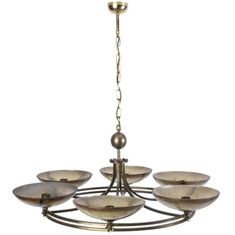 Unique Chandeliers For Sale Unique Geman Deco Chandelier By Ikora For Sale At 1stdibs