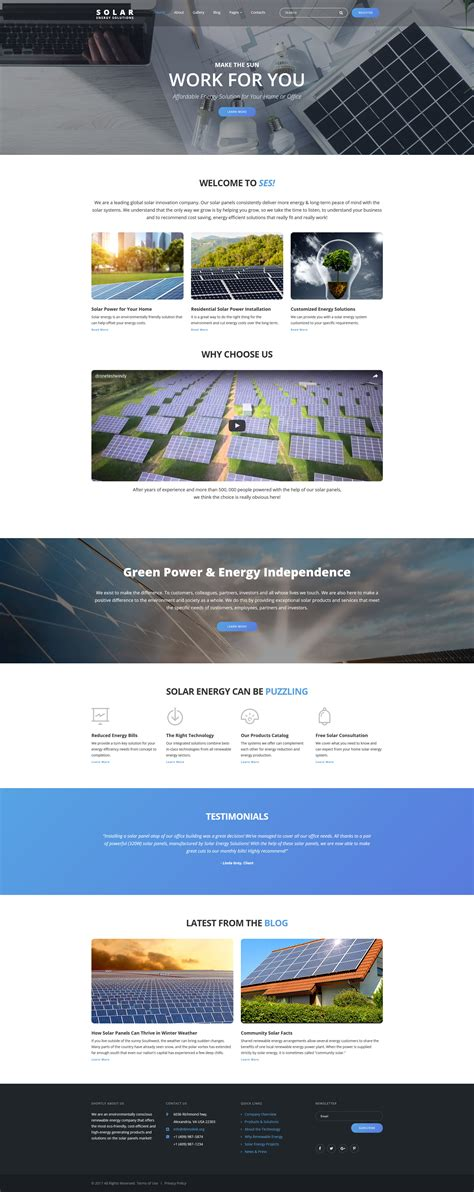 joomla template classy home solar energy responsive joomla template 63690