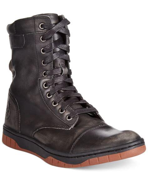 diesel boots mens diesel tatradium basket butch zip boots in black for