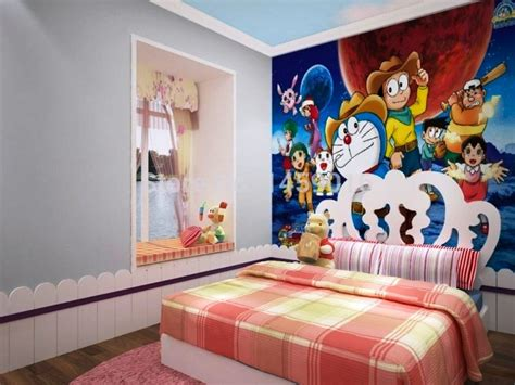 wallpaper kamar tidur elegan mewah murah doraemon  kitty desaininrumah desaininrumah