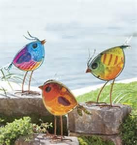 new garden statue yard art set vintage bird outdoor yard